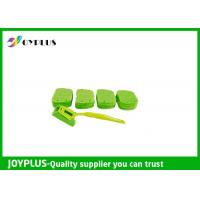 Quality Kitchen Home Cleaning Tool Dish Cleaning Pads With Long Handle Green Color for sale