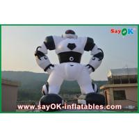Quality Outdoor White 10 Meter Inflatable Robot Inflatable Cartoon Characters For Advertising for sale