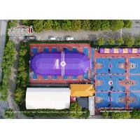 Big Polygon Sports Tent used for Basketball Field with Purple PVC fabric for sale