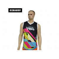 Quality Mesh Fabric Wrestling Tank Tops Breathable , Athletic Sleeveless Tank Top OEM for sale