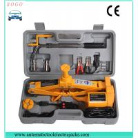automatic emergency tools2 tons electric scissor  lifting car single jack with wheel nut wrench