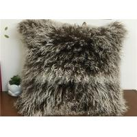 Quality Tibetan Lambswool Pillow Cover Natural Long Haired Mongolian Lamb Fur Pillow for sale
