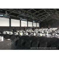 Quality Portable Large Clear Span Fabric Structures Black PVC Fabric Roof Cover for sale