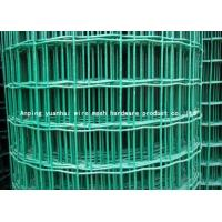 Quality Durable Square Chicken Wire Mesh Panel , Green Pvc Coated Wire Mesh Fencing for sale