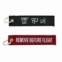 Quality Embroidered Keychains with Split-ring Attachment for sale