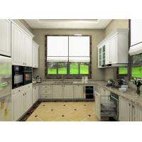Quality Moisture Proof Board Pvc Kitchen Cabinets With Visible Handle 8 Years Guarantee for sale