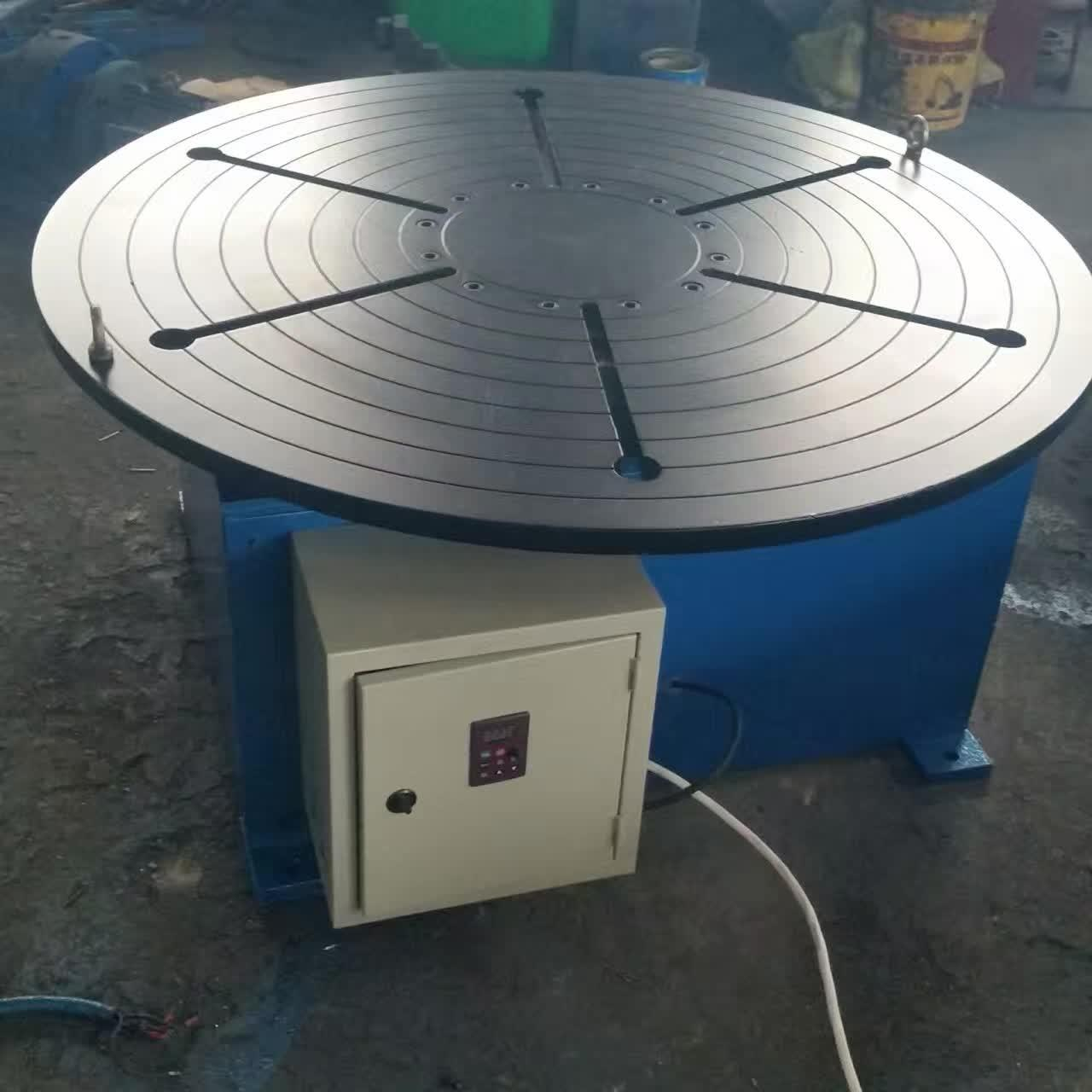Buy Pipe Revolving Table For Welding For Round Seam Welding Rotary Table With Round Table Supporting 15 Tons at wholesale prices