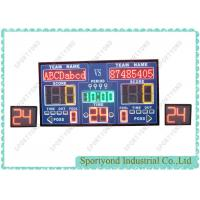 Quality Indoor LED Basketball Field Sport Scoreboard Display And 24 Shot Clock for sale