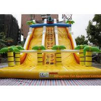 Quality Giant Commercial Dinosaur Inflatable Water / Dry Slide Bouncer With Slide for sale