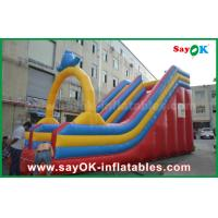 Quality Customized 0.55 PVC Tarpaulin Inflatable Bouncer Slide For Water Fun / Water Park for sale