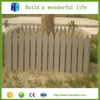 Quality 2018 waterproof lightweight garden wpc fencing small garden fence for sale