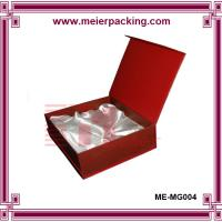 Quality Square hard cardboard red color keepsake packaging boxes with silk mount for sale