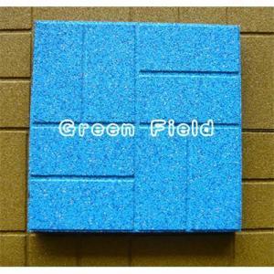 Quality 400*400 epdm rubber flooring tile for sale