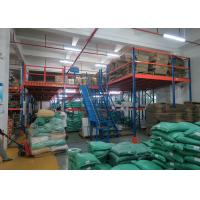 Quality High Density Mezzanine Floors Racking , Industrial Mezzanine Systems For Auto Parts Industry for sale
