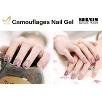 Quality 1kg Bulk Colorful Camouflage Nail Gel OEM / ODM Nail Builder Gel For Salon for sale