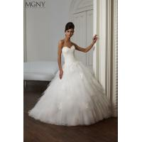 Quality NEW!!! Strapless white Ball gown wedding dress Lace top Organza Bridal gown #mgny-51031 for sale