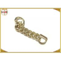 Quality Zinc Alloy Custom Bag Hardware Gold Metal D Ring With Chain Die Casting Plating for sale