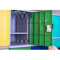 Quality Employee ABS Plastic Lockers Green 8 Comparts 1 Column Coin Operated Lockers for sale