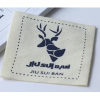 Quality 100% Cotton Clothing Custom Printed Clothing Labels Knitted Fabric for sale