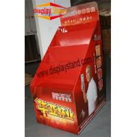 Quality trapezoidal floor Corrugated Pop cardboard display for cups for sale