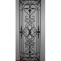 Quality cheap price black steel bar wrought iron glass made in China for wooden doors for sale