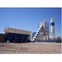 China High performance and low price Twin Shaft Mixer HZS75 75m3/h concrete mixing plant on sale