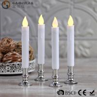 Quality TL-006 Battery Operated Taper Candles With Timer Golde Silver Color for sale