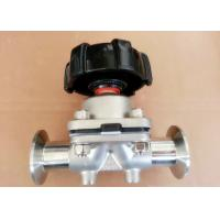 1/4'' Sanitary Diaphragm Valves , SP-4M AISI-316L SS Manual Operated  Valve for sale