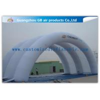 White Inflatable Arch Tent / Inflatable Tunnel Tent With Oxford Cloth Material for sale