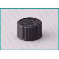 Quality 20/410 Ribbed Black Screw Top Caps , Pharmaceutical Child Proof Caps for sale
