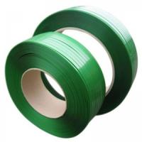Quality Impact Resistance Cargo Pet Packing Belt , Plastic Strapping Tape Green Color for sale