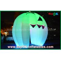 Quality Cute Inflatable Holiday Decorations Lighting Ghost Door / Large Inflatable Pumpkin for sale