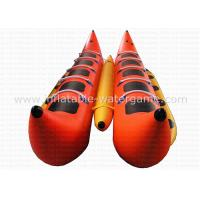 China 0.9mm PVC Banana Motorized Inflatable Boat Heavy Duty RoHS EN71 Certification on sale