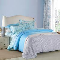 Quality 4 Piece Navy Blue Bedding Sets , 100 Percentage Cotton Beautiful Bedroom Bedding Sets for sale