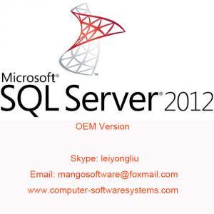 English Computer Software System SQL Server 2012 Standard