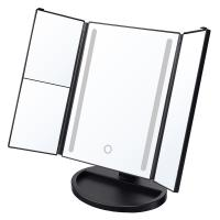 Buy cheap Tri-fold Makeup Mirror with USB Charging and Battery Supply, Touch Screen, 180°Adjustable Rotation, Countertop Cosmetic from wholesalers