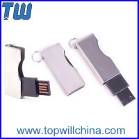 Quality Twist Shinning Metal Usb Thumbdrive Blade Type with Free Key Ring for sale