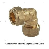 compression fitting elbow 15mm for copper pipe for sale