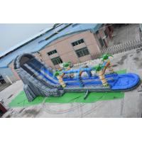 Quality 27ft high cheap giant inflatable water slide for adult double slip n slide for sale for sale