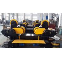 Quality Travelling Self Aligning Pipe Welding Rotator , Rubber Combine Steel Wheel Load Capacity 30T for sale