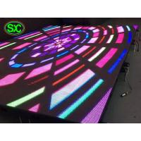 Quality open stage club dance floor,concert rental full color outdoor p6.25 led dance floor screen for sale