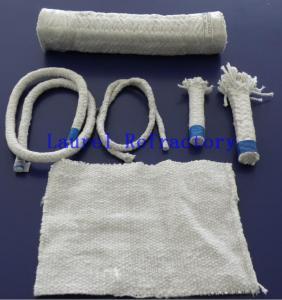 Quality Boiler Insulation Ceramic Fiber Refractory Textiles Oil / Water Vapor Resistent for sale