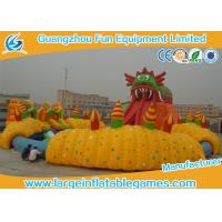 Quality Durable Large Inflatable Games / Inflatable Water Slide With Huge Pool Park For Amusement Park Games for sale