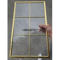 Buy No welding single decorative glass panel inserts for cabinet door 1MM edge at wholesale prices