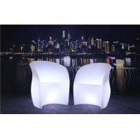 Quality 3 Pcs Color Charging LED Glow Furniture AC 100-240V Input LED Tables And Chairs for sale