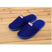 Quality Comfortable Cotton Velour Disposable Hotel Slippers , Terry Cloth Flip Flop Slippers for sale