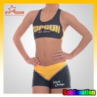 China Personalized Cheerleading Training Clothes Of Stretch Metallic Cheer Uniforms on sale