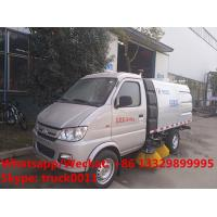 2020s new design cheapest Chang'an gasoline 4*2 4 wheels mini road sweeping vehicle for sale, street sweeper truck for sale
