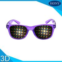 Quality PVC Materials thicker lens 3D Diffraction Glasses For Party / 3d firework glasses for sale