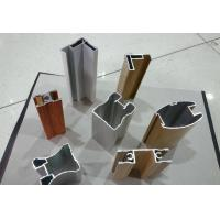 Quality Wood Finished Aluminium Door Profiles Strength Hardness Wear Resistance for sale